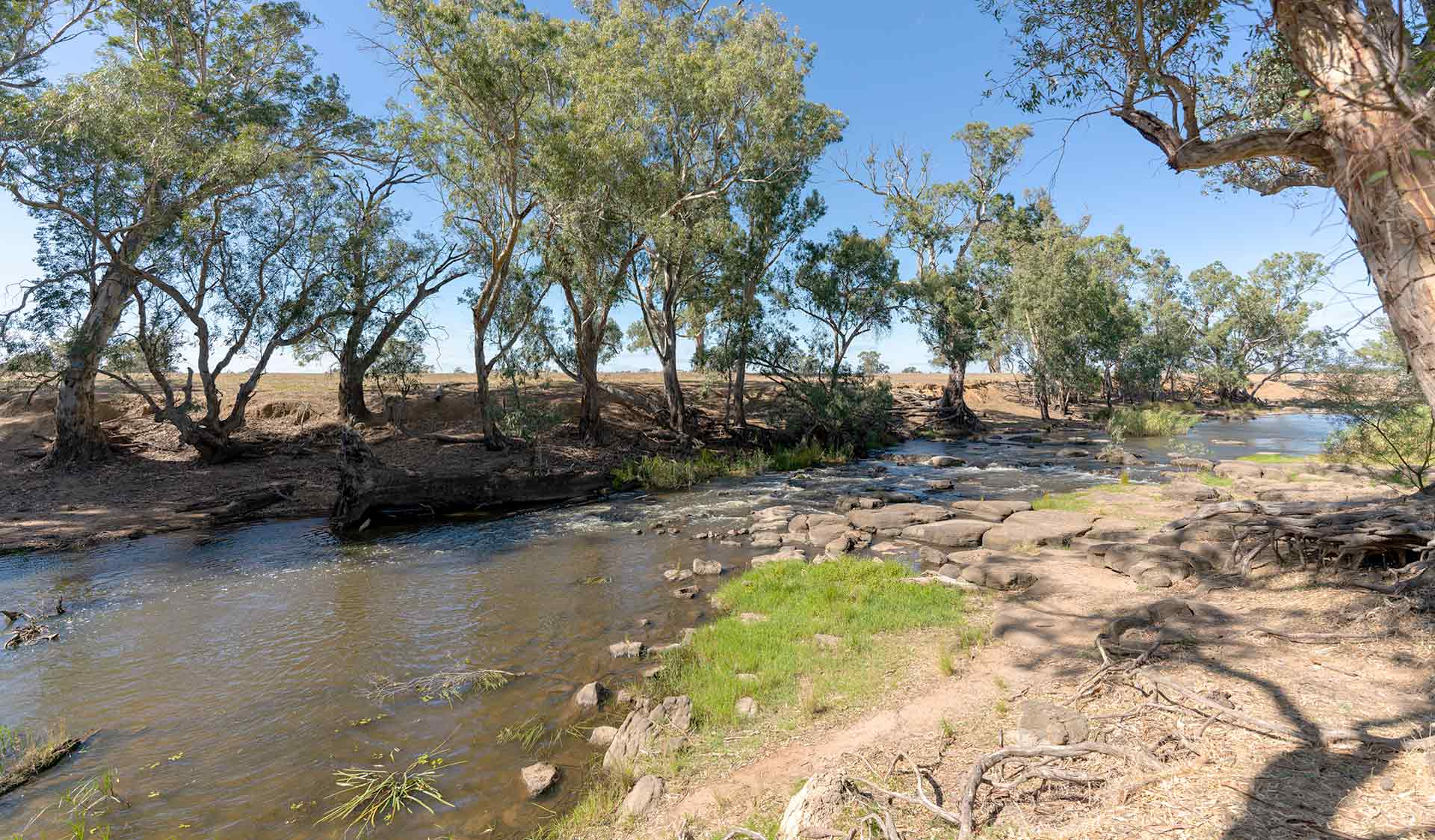 Campaspe River at Rocky Crossing in the Greater Bendigo National Park