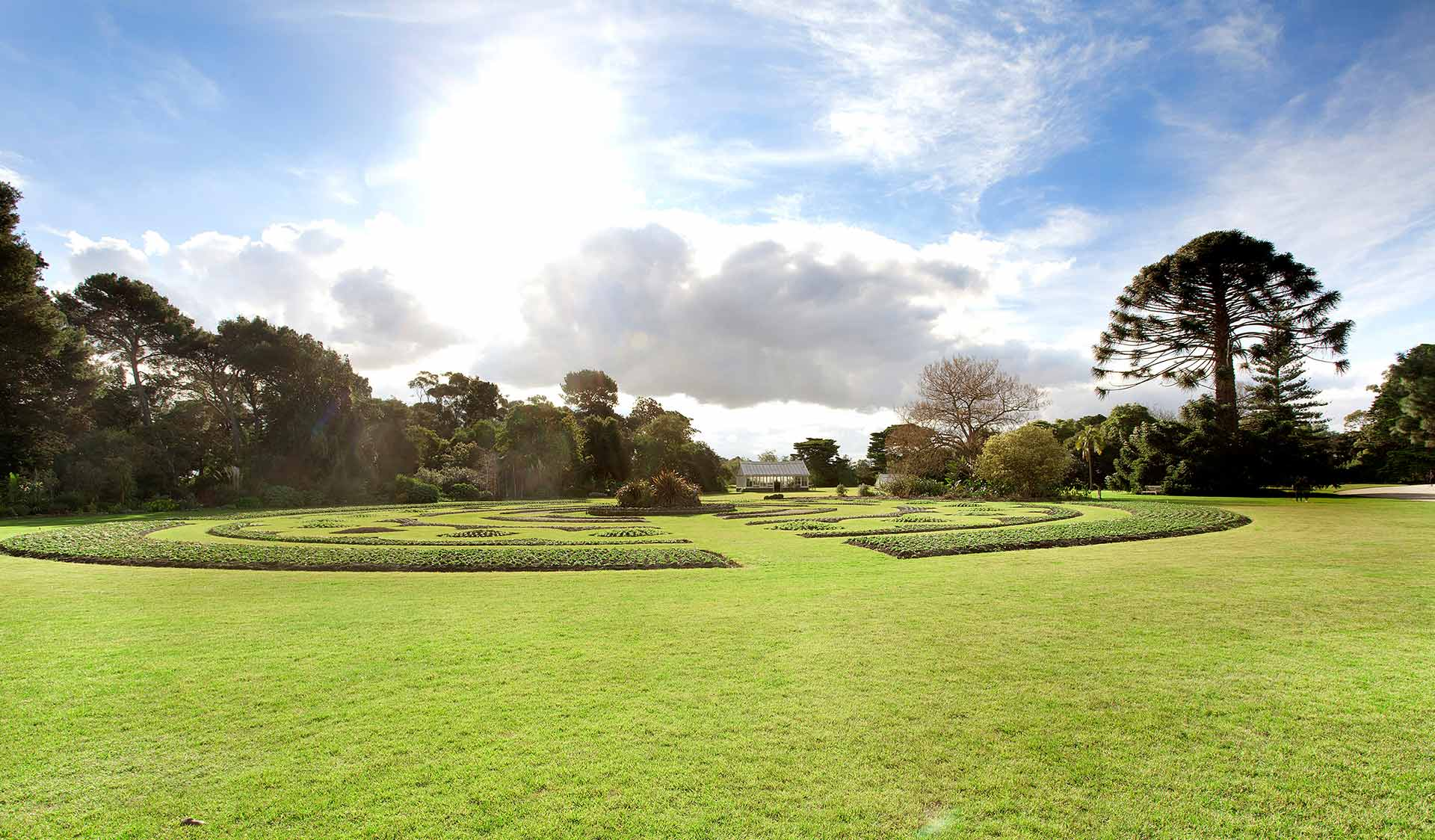 The gardens of the historic Werribee Park Mansion.