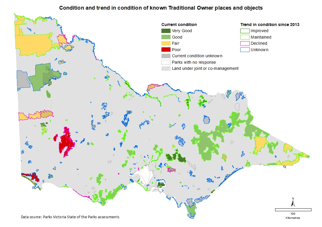 condition of known Traditional Owner places and objects