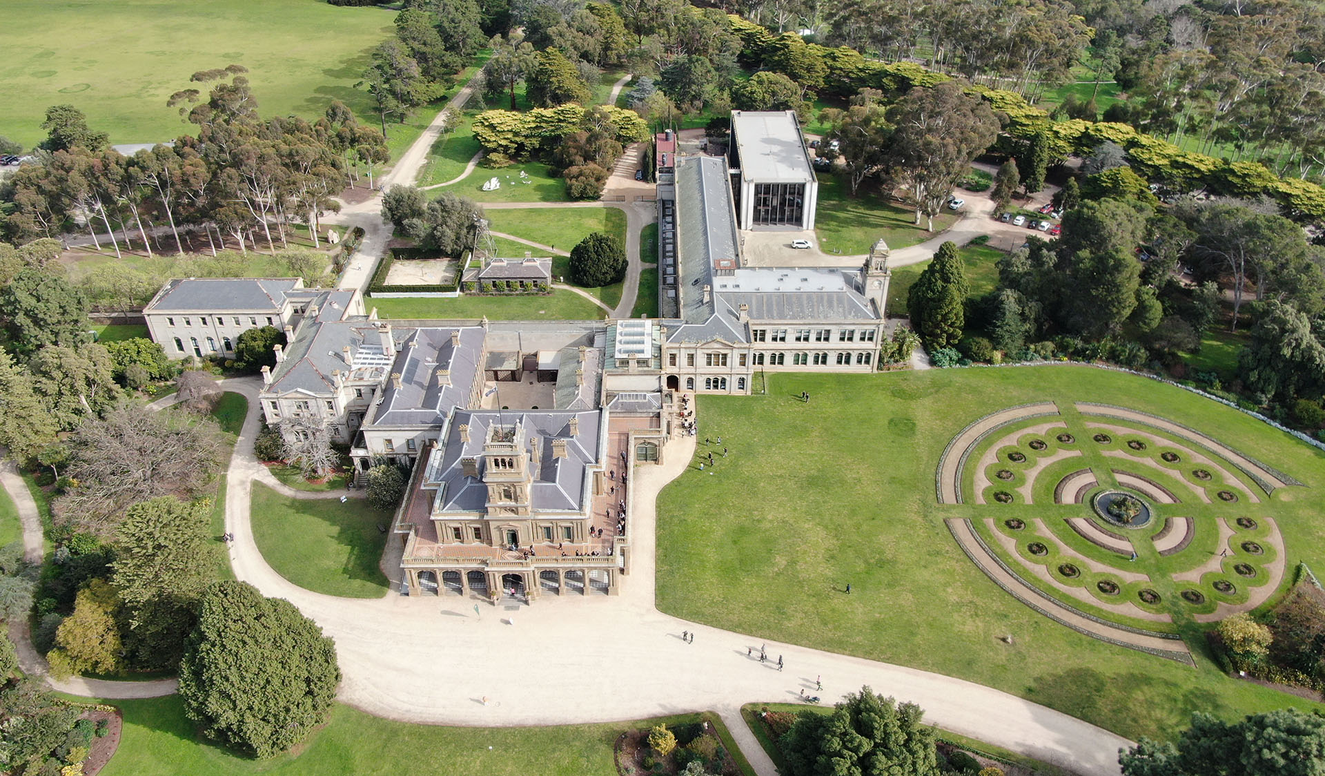 Overview of Werribee Park Mansion.