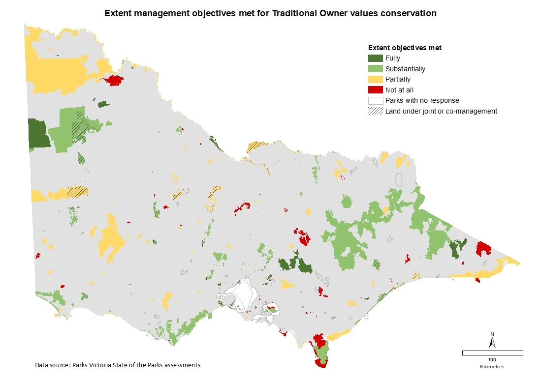 extent management objectives met for Traditional Owner values conservation
