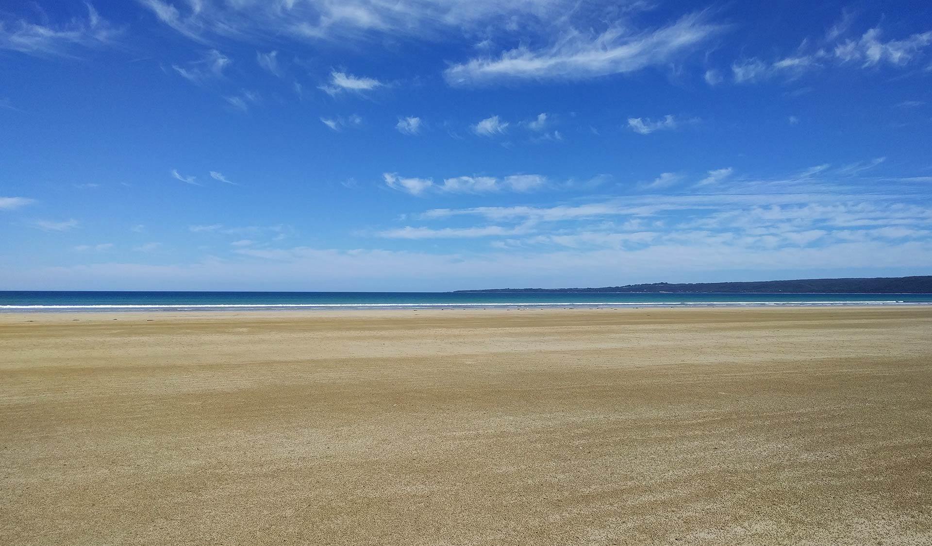 The beach at Waratah bay.