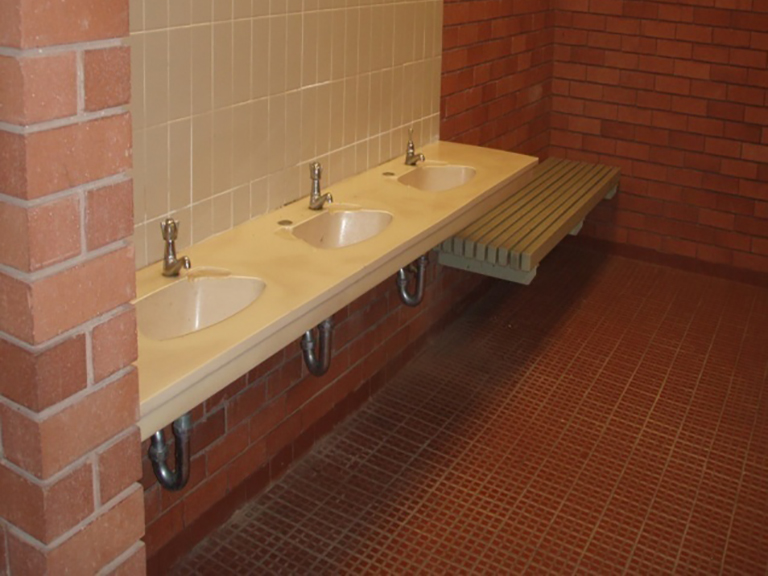 Vanity basins at Henderson's toilet block