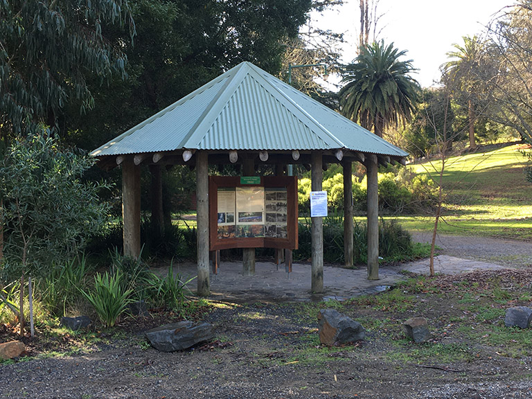 Information shelter at Maroondah Reservoir