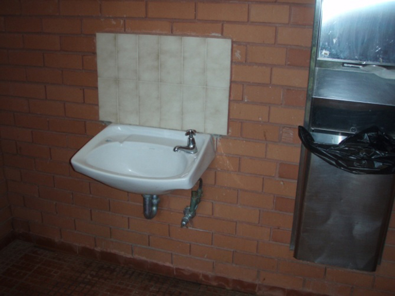 Vanity in Rose Steps toilets at Maroondah Reservoir