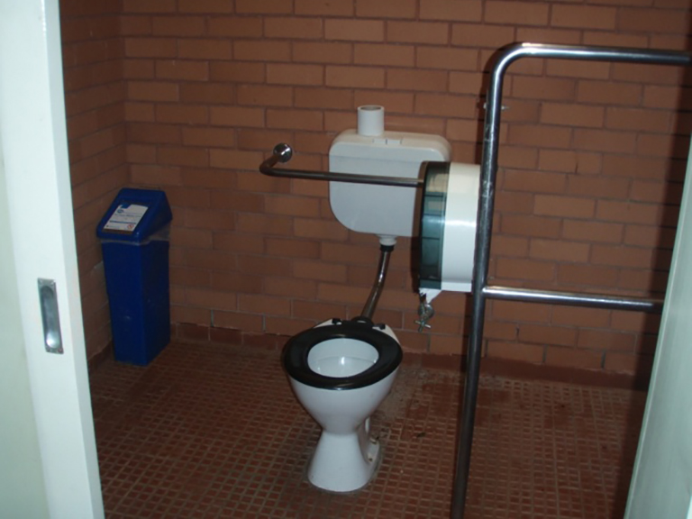 Unisex accessible toilet at Rose Steps, Maroondah