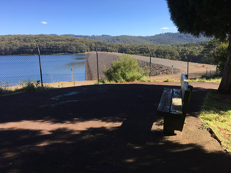 Observation area at Silvan Reservoir Park