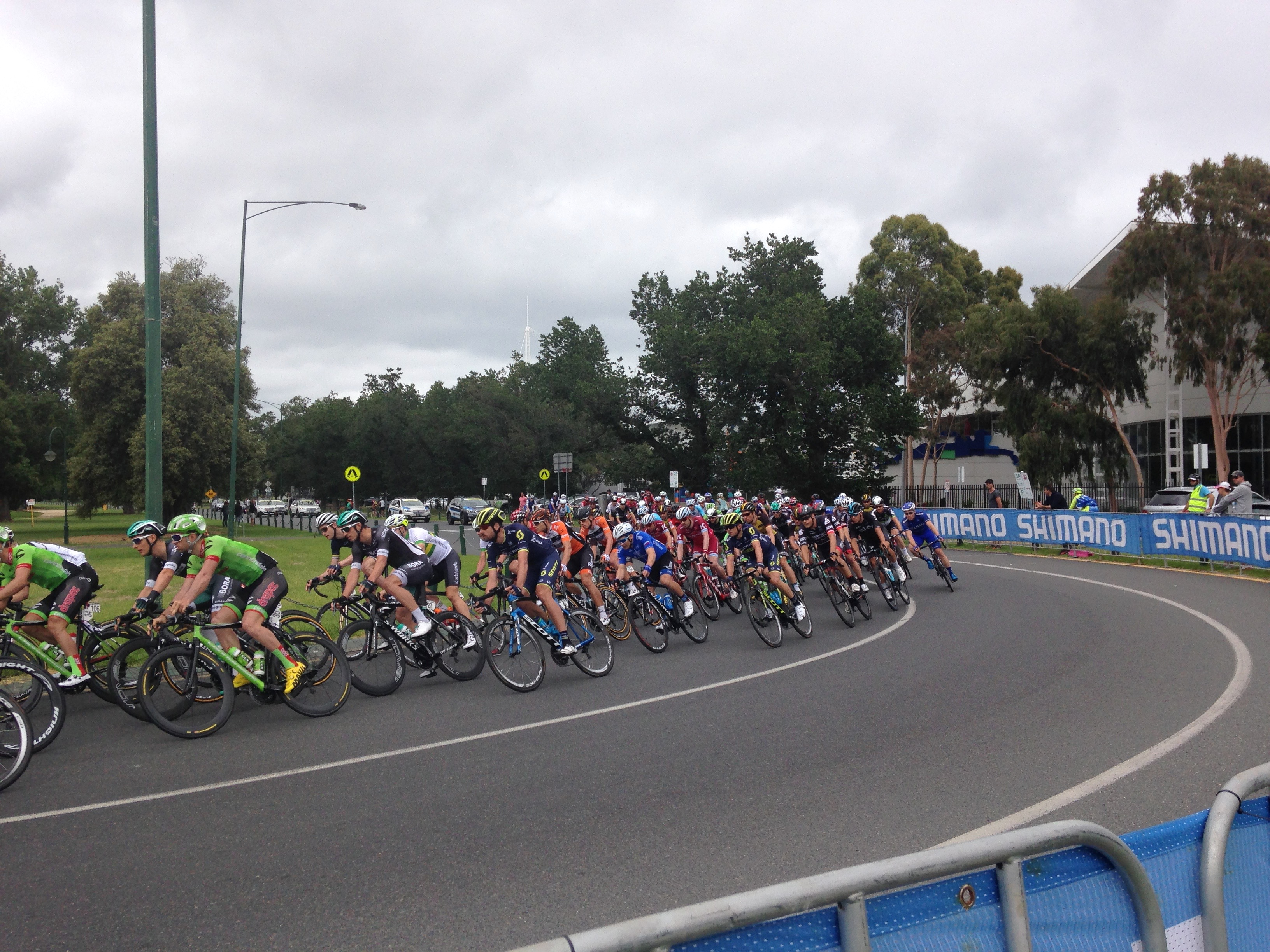Cycling event at Albert Park