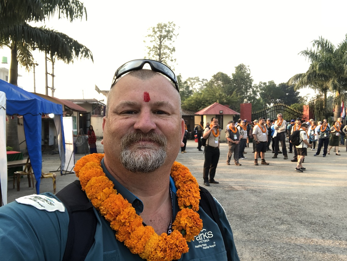 Andy Davies at the world Ranger Congress, Nepal, 2019