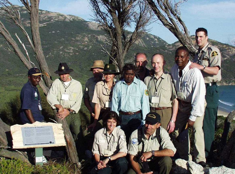 World Ranger Congress 2003 Dedication Plaque Point Pillar Wilsons Prom National Park