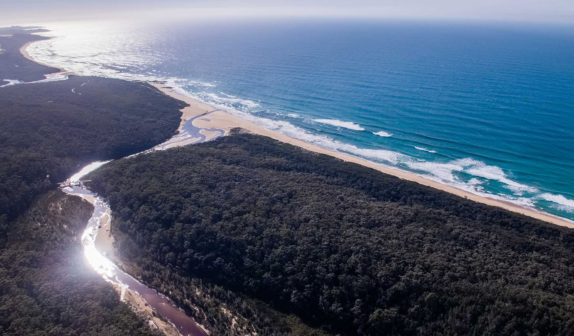An aerial view of the Croajingolong National Park.