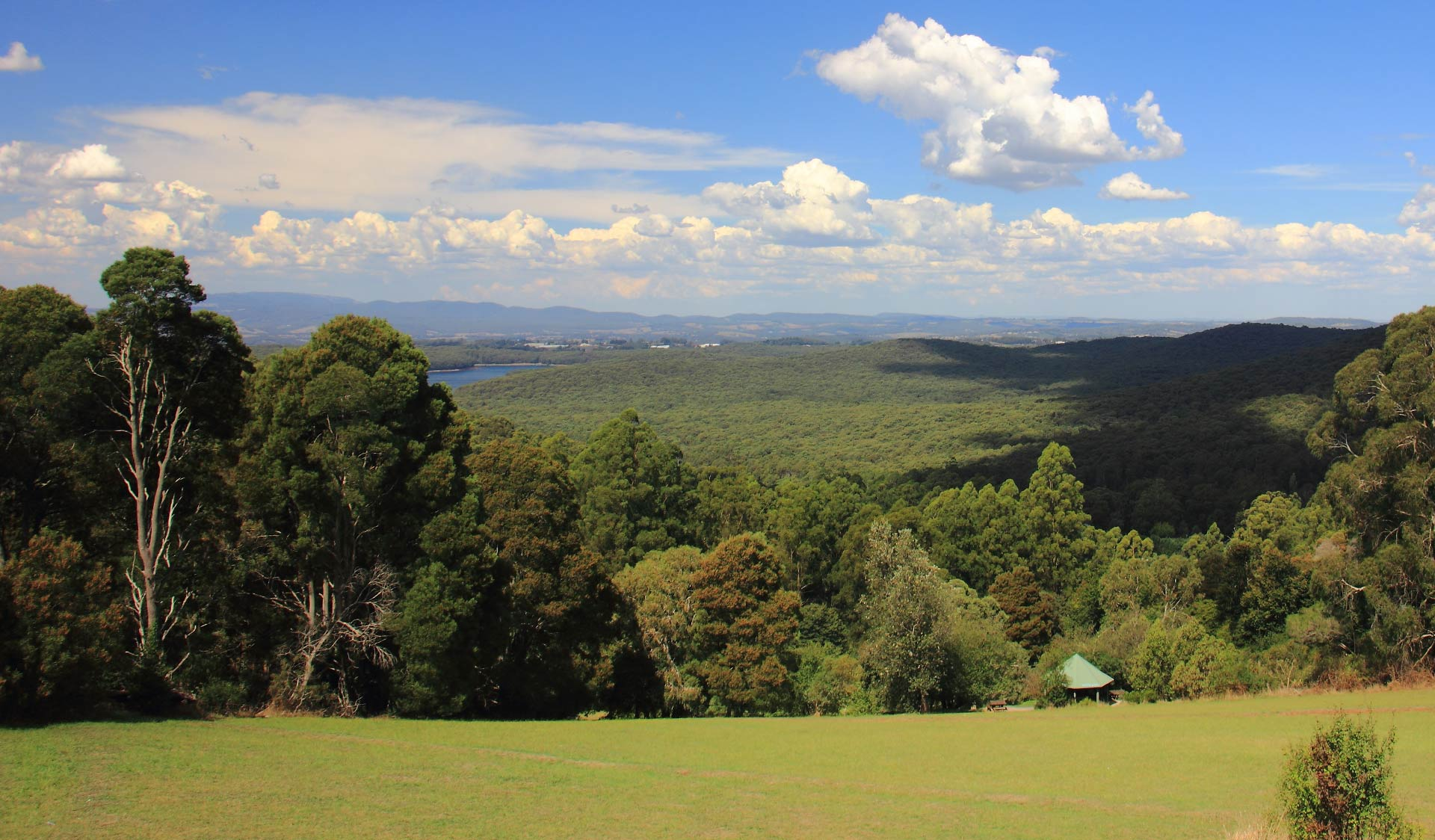 The stunning view from the top of Kalorama Park in the northern section of the Dandenong Ranges National Park.