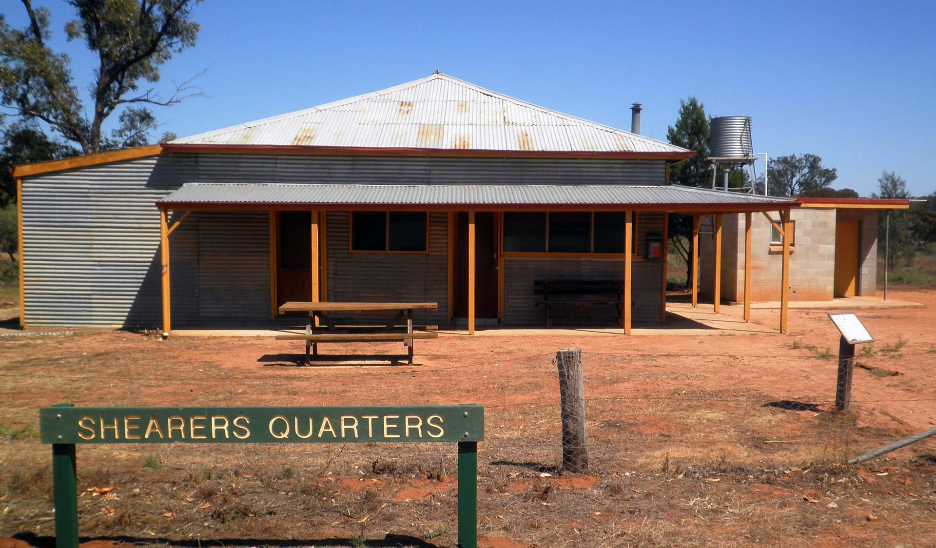 Shearers Quarters - an historic self-contained four bedroom cottage in the middle of the Murray Sunset National Park.
