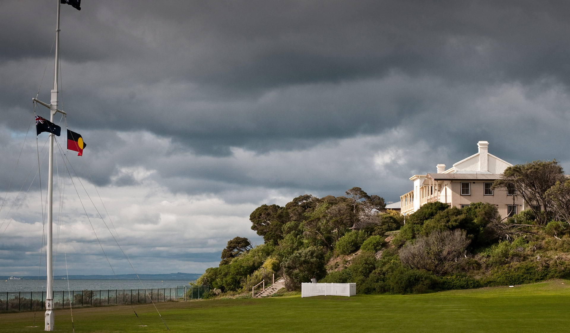 The historic buildings of the Quarantine Station at Point Nepean.