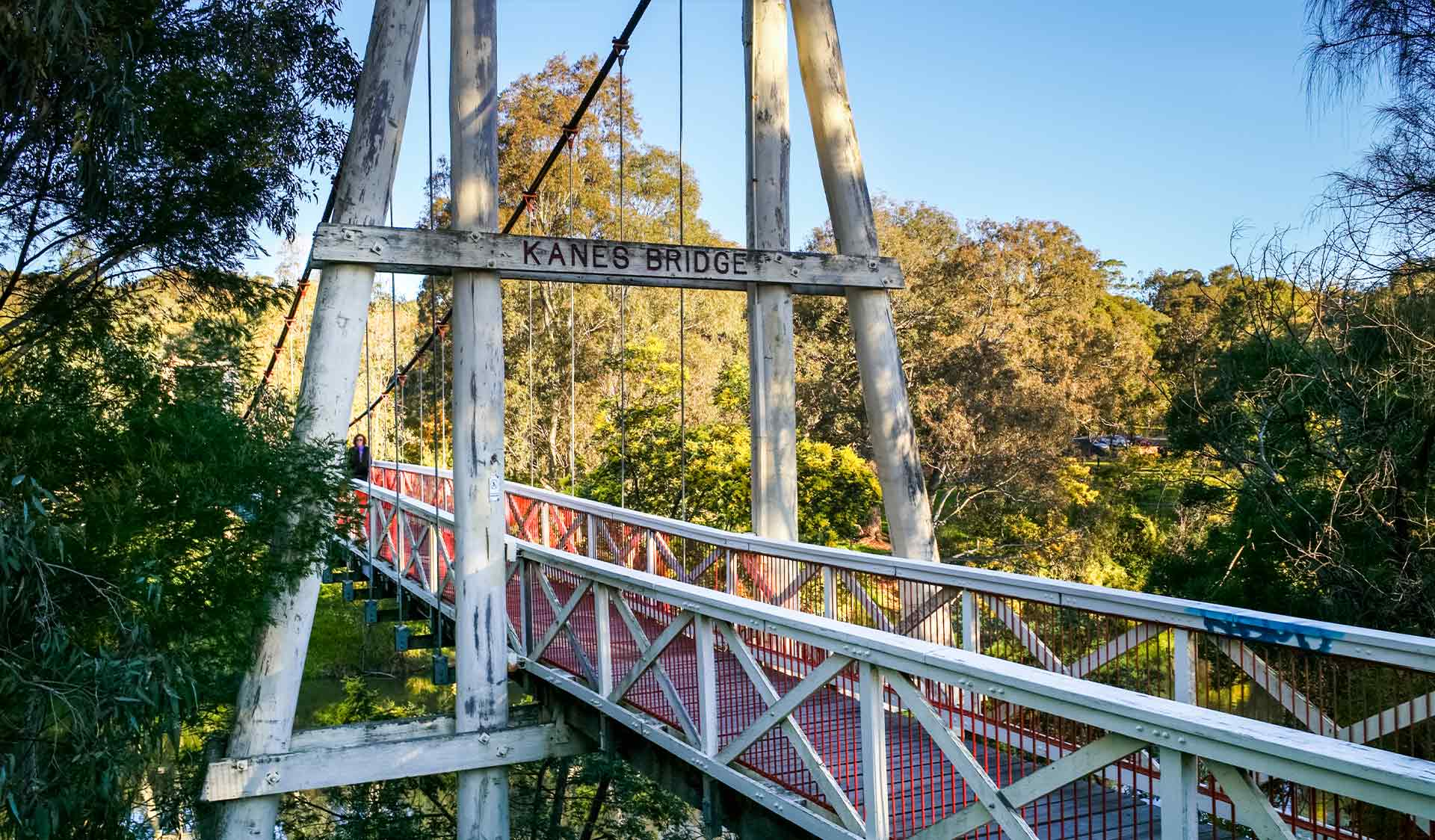 The historic Kanes Bridge at Yarra Bend Park