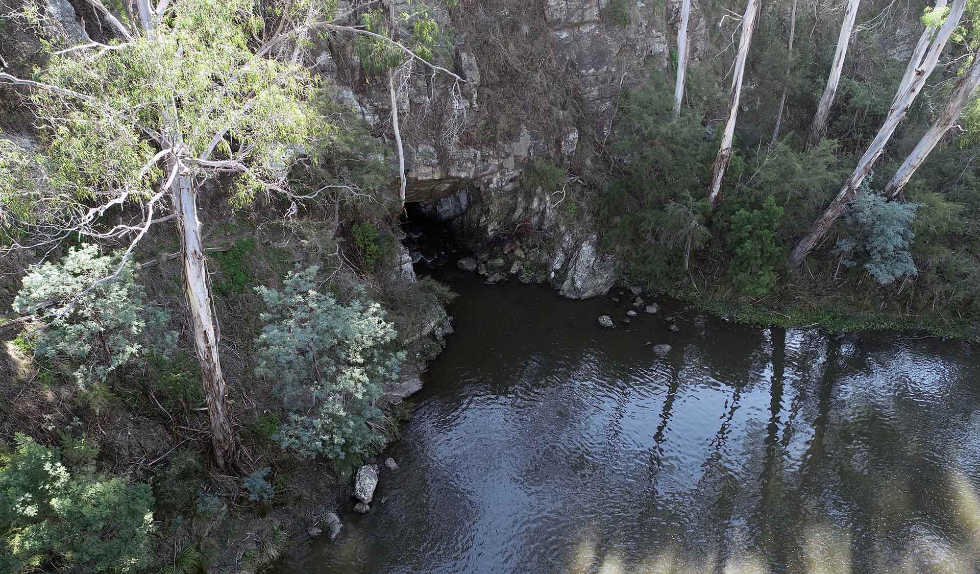 The Pound Bend Tunnel on the Yarra River near the Warrandyte State Park.