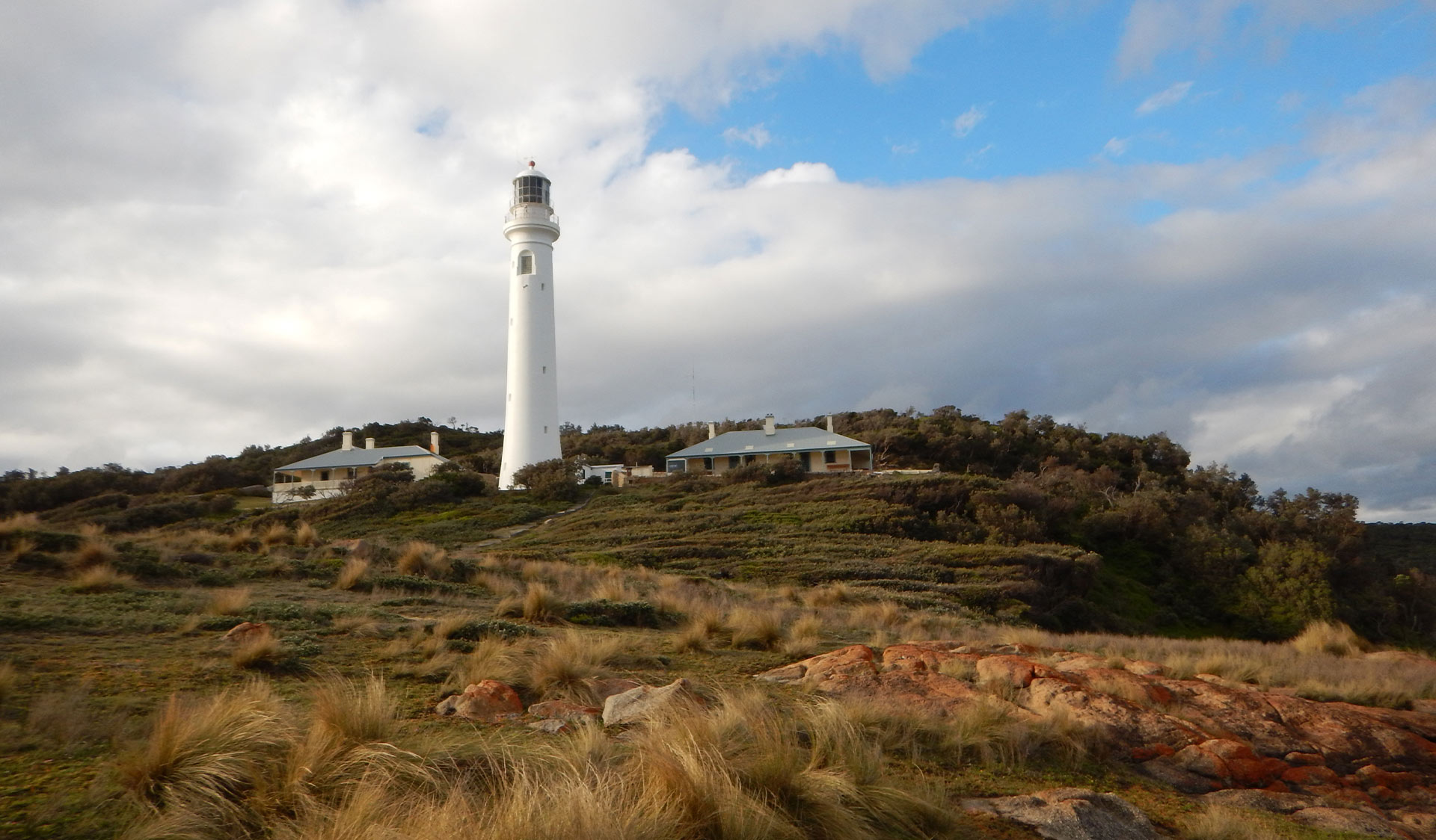 The lighthouse and cottages at Point Hicks at the Croajingolong National Park